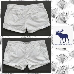 Abercrombie & Fitch linen blend fold-up shorts 4
